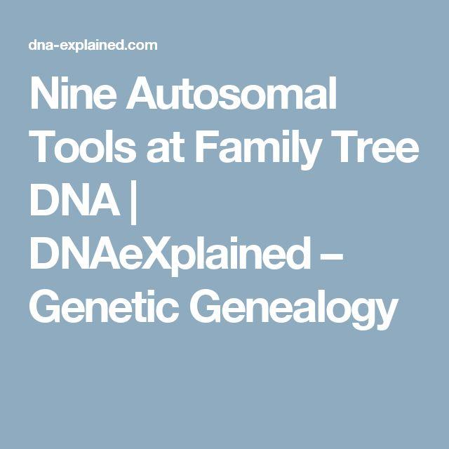 Nine Autosomal Tools at Family Tree DNA | DNAeXplained – Genetic Genealogy