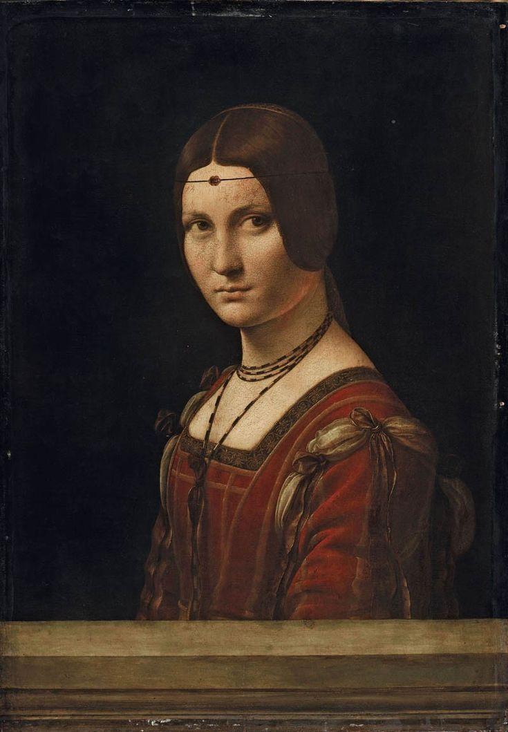 Leonardo Da Vinci - 'Ritratto di dama' ('La Belle Ferronnière' o 'Presunto ritratto di Lucrezia Crivelli), c. 1493-1495