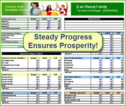 Free Budget Spreadsheet Household Budget Template  Financial