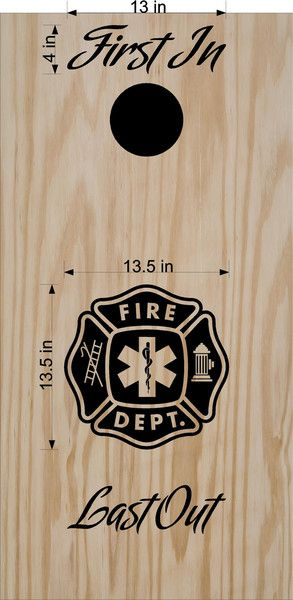 Fireman Fire Department Cornhole Board Decals Stickers Wrap