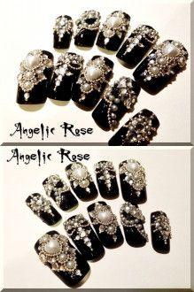 【Angelic Rose】ゴシックゴスロリネイル_画像1