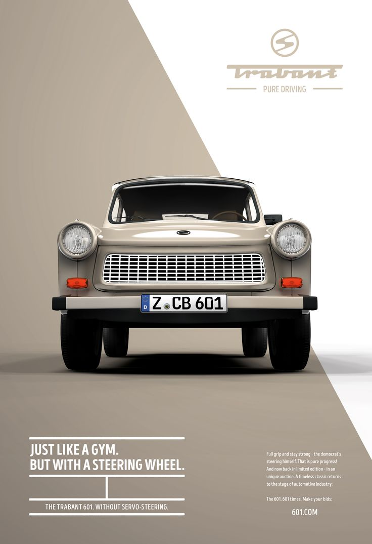 Poster design near me - Trabant 601 Pure Driving Outdoor Print 377371 Adeevee