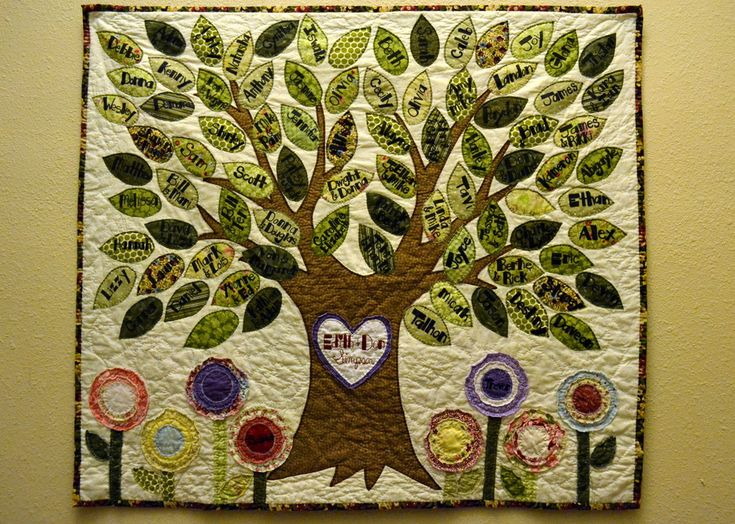 I made this Family Tree Quilt for my grandma's 95th birthday. :)