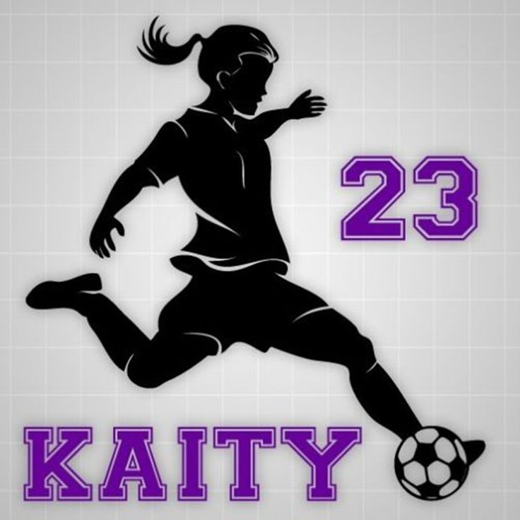 Handsome Female Soccer Player Ready To Shoot Wall Decal For Girl Kids Rooms Custom Name & Number Sticker Waterproof Decal SYY050