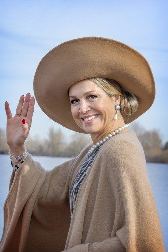 Queen Máxima with her usual broad smile.
