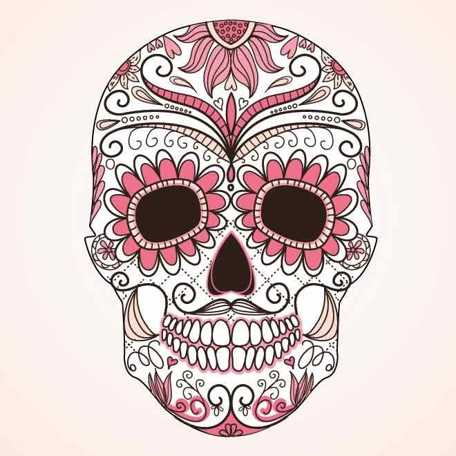 Tatuagem De Caveira Mexicana Arte No Corpo