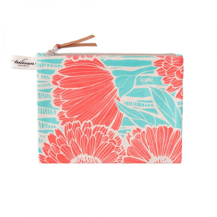 Accessories: Medium Pouch Orange Salmon $17