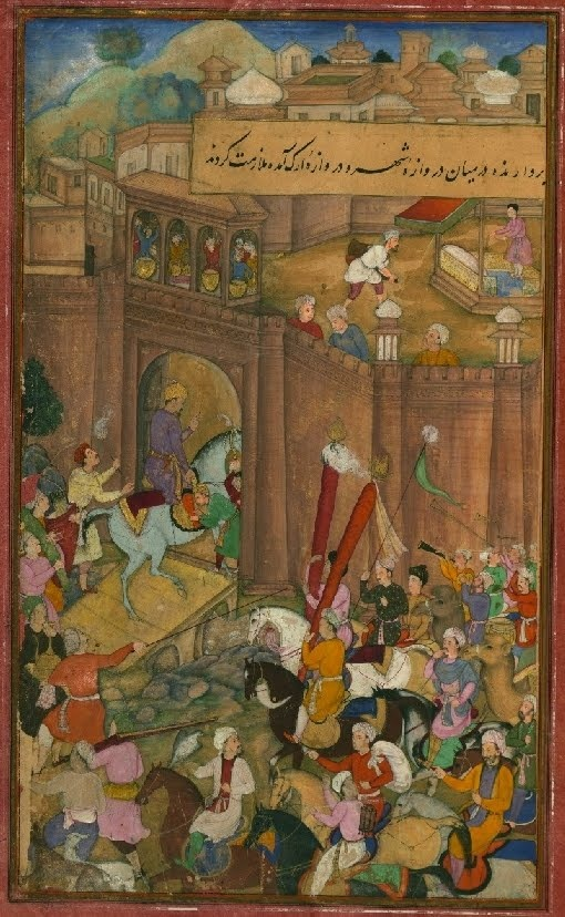 Baburnamah : a 16th c. autobiographical, illuminated, Persian / Islamic manuscript (copy), courtesy of the Walters Art Museum in Baltimore.