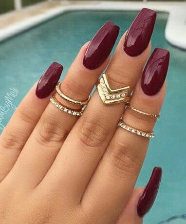 Best 25 maroon nails ideas on pinterest maroon nails burgundy maroon nails prinsesfo Choice Image