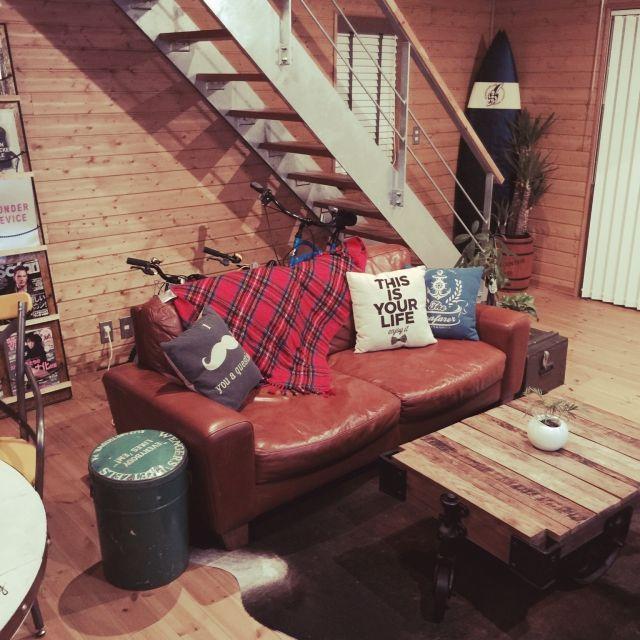 アメリカン ヴィンテージ/植物/DIY/ACME FUNITURE/ソファ…などのインテリア実例 - 2015-03-08 10:10:38 | RoomClip(ルームクリップ)