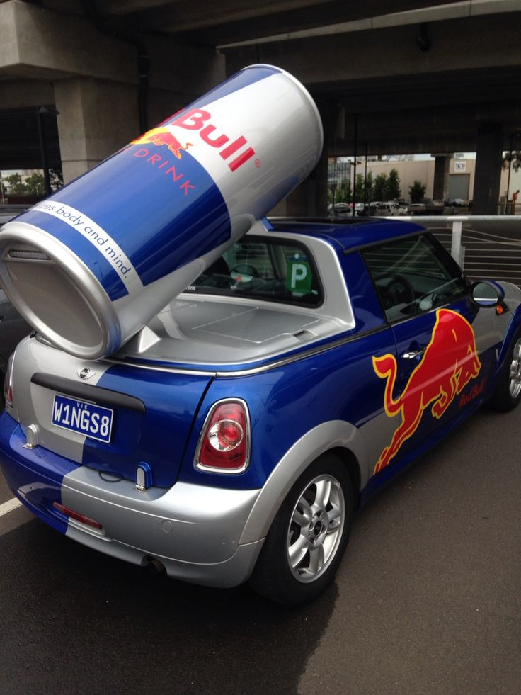 Red Bull Minis at OzComicCon kinda cut away 'utes' or pick up trucks