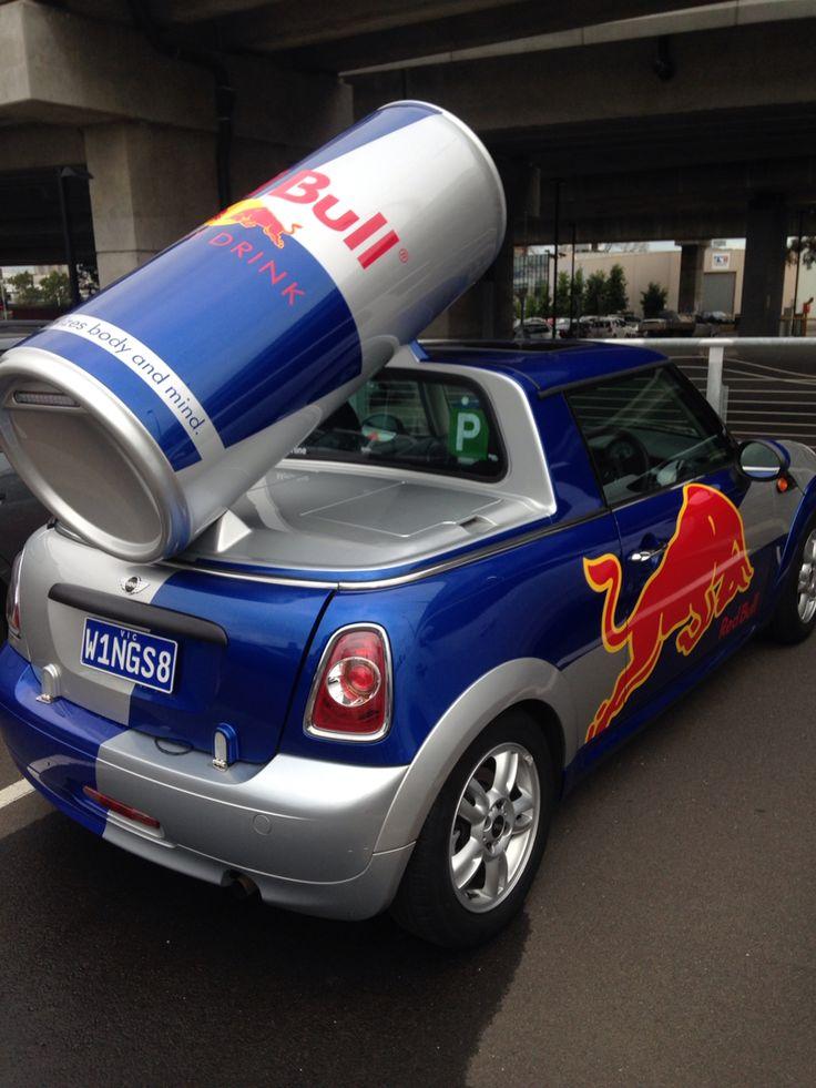 Red Bull Minis at OzComicCon kinda cut away 'utes' or pick up trucks