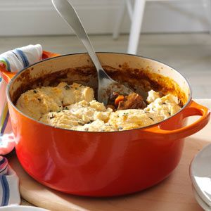 Short Rib Cobbler Recipe from Taste of Home -- shared by Janine Talley of Orlando, Florida