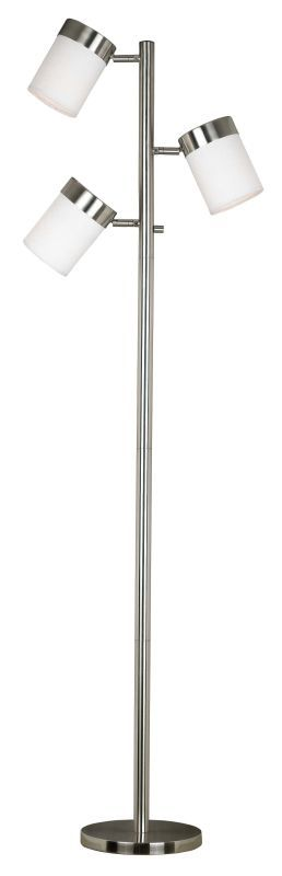 Kenroy Home 20970 Roarke 3 Light Adjustable Floor Lamp Brushed Steel Lamps Floor Lamps Tree Lamps