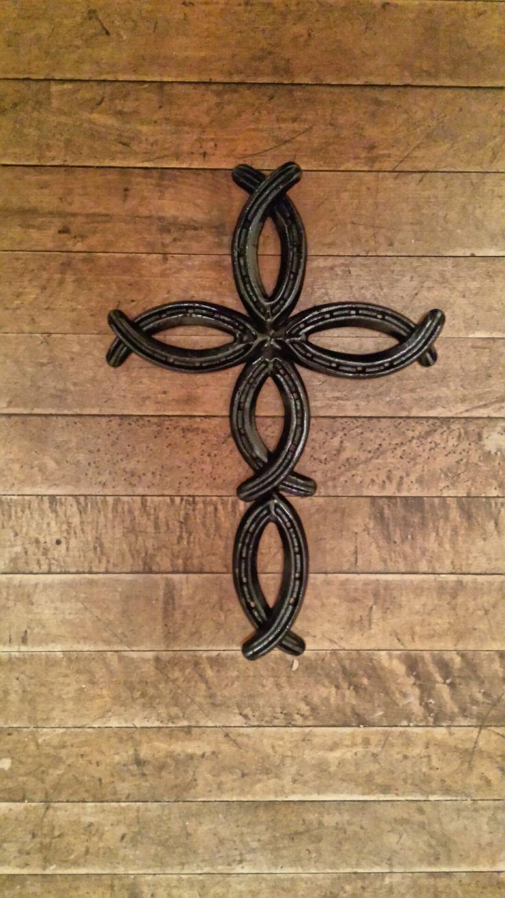 Horseshoe arts and crafts - Horseshoe Fish Cross