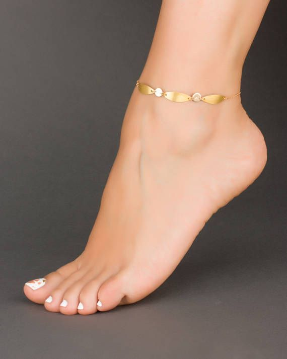 Gold Personalized Anklet Boho Ankle Bracelet Initial Ankle