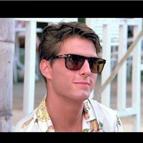 """80s PERSOL RATTI 69233 meflecto made in Italy sunglasses, tom cruise """"cocktail"""" frame"""