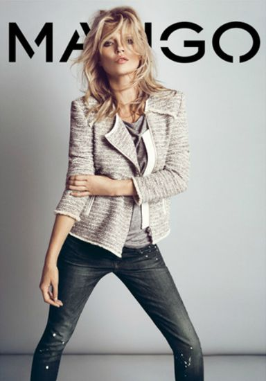 Mango Fall 2012: Mango Fall, Tweed Jackets, Katemoss Mangocloth, Mangofashion Katemoss, Heather Gray, Distressed Denim, Leather Tees, Kate Moss, Grey Leather