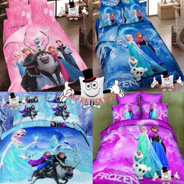 3D Bed Set The Movie Frozen Bedding Set and Quilt Cover 4 Designs Bottom left<3