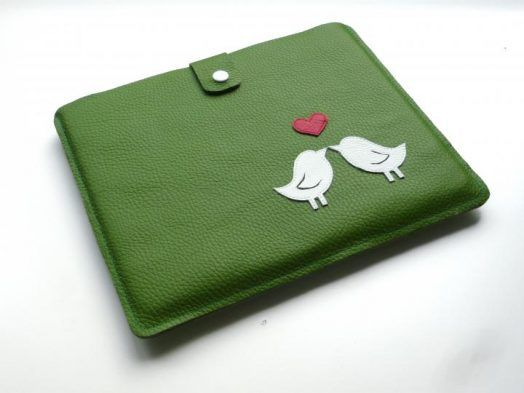 Tablet-PC-Tasche liebende Vögel