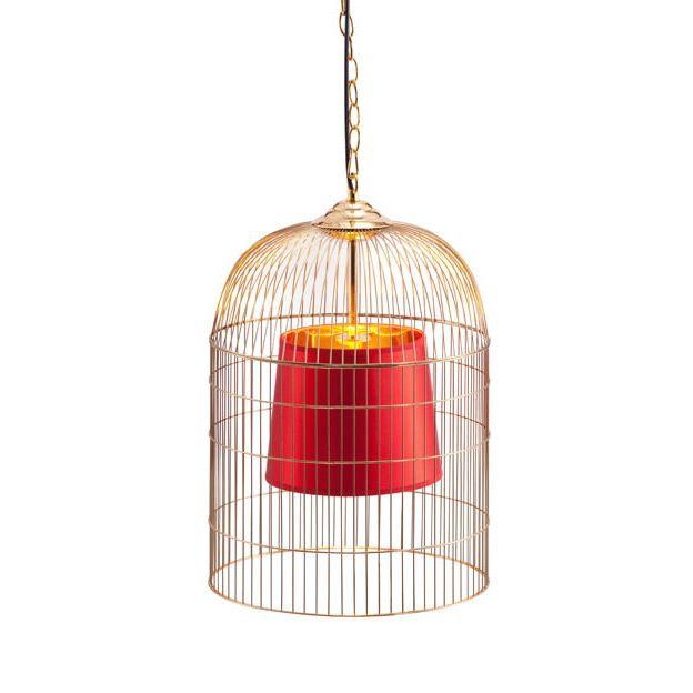 Caged Crimson Pendant Light | dotandbo.com