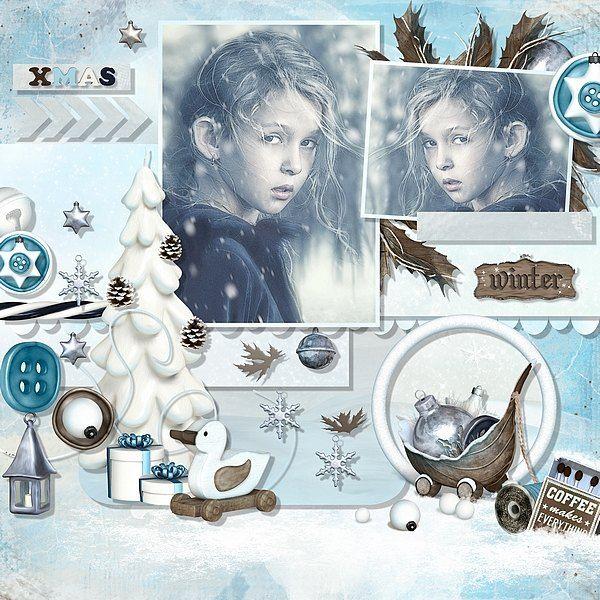 Winterland by Bel Scrap Template by Fiddle-Dee-Dee-Designs Photo by Anarud