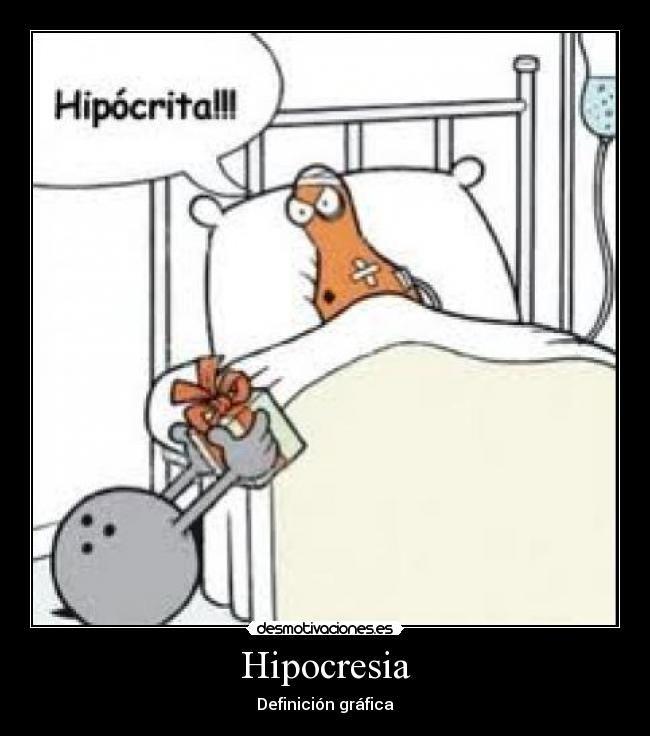 Hipocresia - Definición gráfica