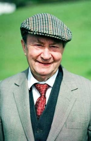 Peter Sallis --- played the voice of Wallace from all of the Wallace and Gromit movies by Aardman, and Clegg, an old guy who gets into all sorts of scrapes with his friends, on the TV series Last of the Summer Wine (1973-2010); he has an extremely distinctive voice