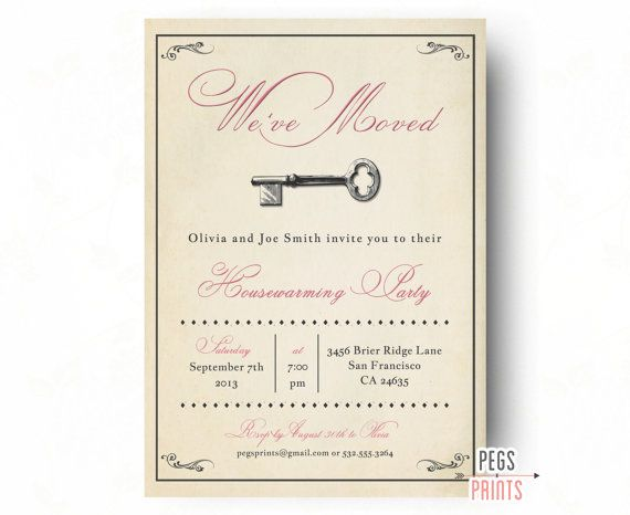 Vintage Housewarming Party Invitation - Rustic House Warming Invitation - Housewarming Invitation PRINTABLE - Vintage Open House Invitation