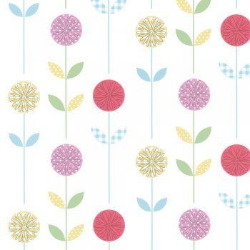 Designer Selection Candy Garden Wallpaper Multi Coloured