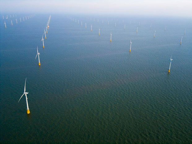 Thanet Offshore Wind Farm. Picture Jason Hawkes