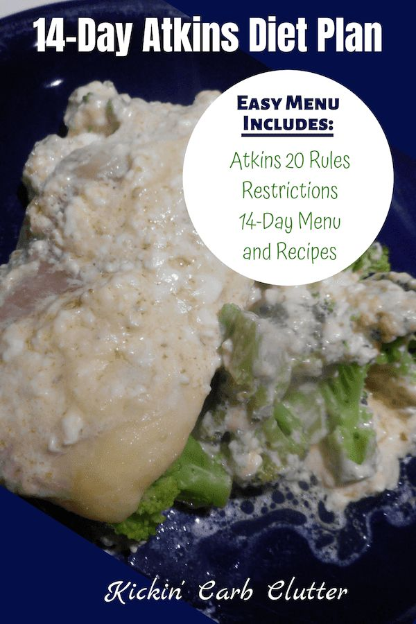 Plan de dieta Atkins de 14 días: este menú fácil incluye Atkins 20 Reglas, restricciones, …