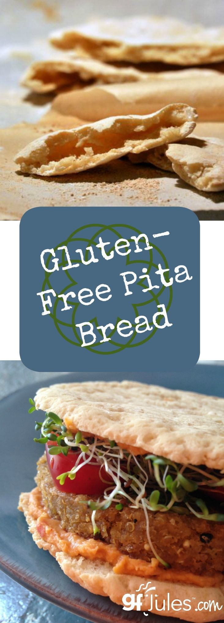 Gluten free pita bread, flatbread for pizza or naan! Versatile, easy, yeast-free and vegan gluten-free bread |gfJules
