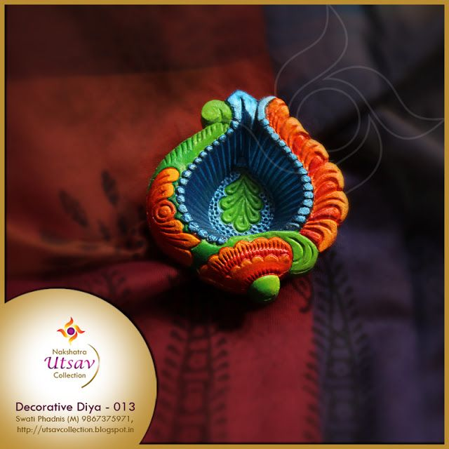 Nakshatra Utsav Collection: NUC-Decorative Diwali Diya2016_013    #decorativediwalidiyas #decorativediyapainting #diwalifestival #diya #diyapainting #indianculture #swatiphadnis #nuc #nakshatrautsavcollection  #artncraft