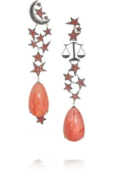 """Lydia Courteille. """"13th sign collection"""". earrings...♡"""