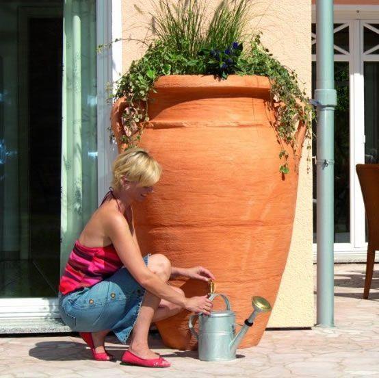 250l Antique Amphora Water Butt :: Water Butts Direct