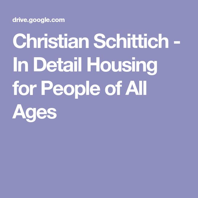 Christian Schittich - In Detail Housing for People of All Ages