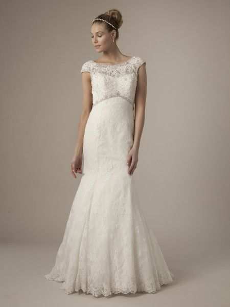 Alita Graham Wedding Dresses Photos on WeddingWire   * like neckline sheer/idea