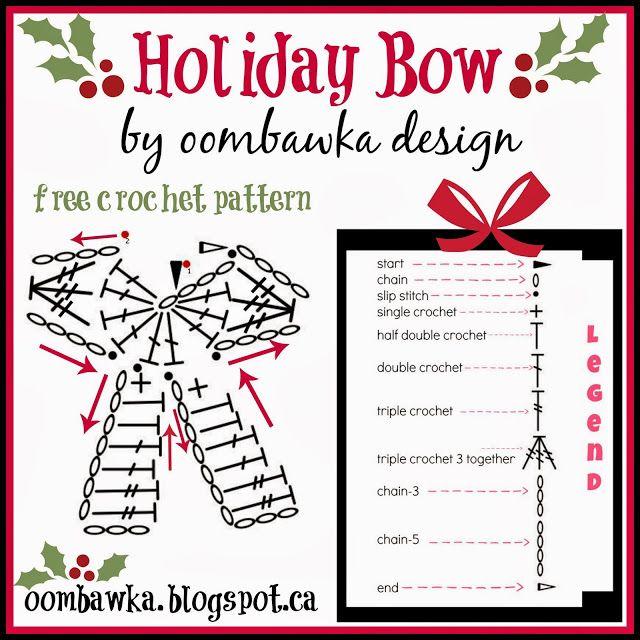 Holiday Bow Crochet Pattern Oombawka Design