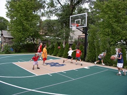 58 best images about backyard basketball court on - Swimming pool basketball hoop costco ...