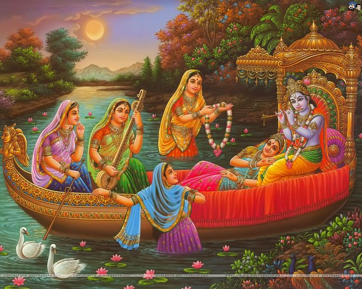 One who is attracted by the beauty of Radha and Krishna cannot be attracted by the false beauty of this material world.