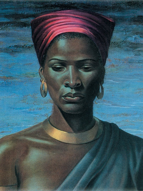 Zulu Girl - Tretchikoff Painting- We have this up in our Living Room <3
