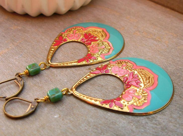 Grandes boucles d'oreilles style gitan : Boucles d'oreille par callenana