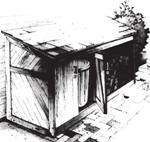 Trash can enclosure plans with firewood storage