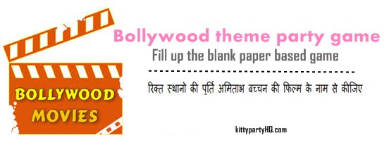 This is a Bollywood theme party game. Where you have fill in blanks with Amitabh Bacchan movie names! A ready to play paper based game written in hindi language.