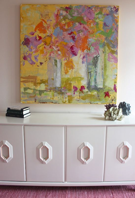 We painted this vintage Henredon console for a client's beach house. It looks like new, again!