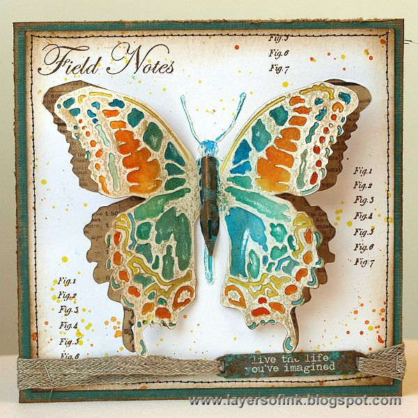 Layers of ink dimensional butterfly tutorial using tim for Tim holtz craft mat