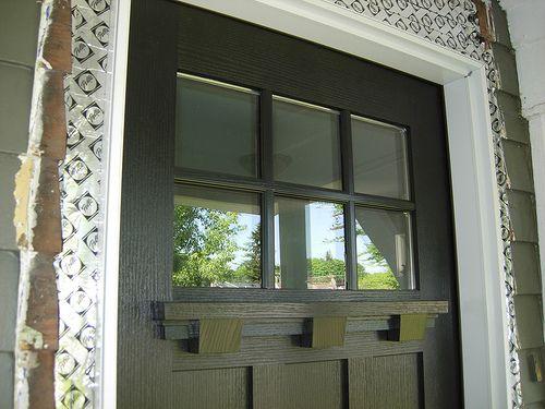 6 lite craftsman door exterior black with dentil shelf by pellawindows via flickr front of - Black craftsman front door ...