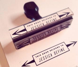Custom Rubber Bookplate Stamp / THE FUTURE PRIMITIVE
