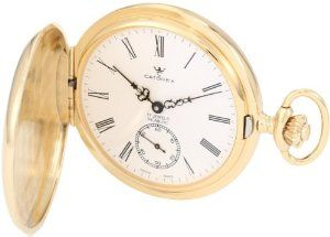 Catorex Men's 171.6.1634.110P Les Breuleux 18k Gold Plated Brass White Dial Pocket Watch Catorex. $870.25
